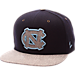 Front view of Zephyr North Carolina College Executive Snapback Hat in Team Colors/Grey