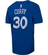 Men's adidas Golden State Warriors NBA Stephen Curry Silver T-Shirt