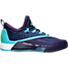 Right view of Men's adidas Crazylight Boost 2.5 Basketball Shoes in Purple/Aqua Blue/White