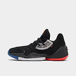 아디다스 Adidas Mens 아디다스 Adidas Harden Vol 4 Basketball Shoes,Core Black/Silver Met/Bright Blue