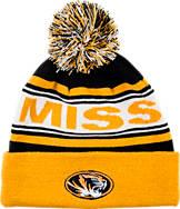 Zephyr Missouri Tigers College Finished Cuffed Pom Hat