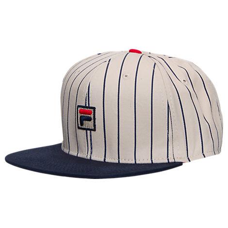 Fila Baseball Pinstripe Snapback Hat