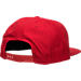 Back view of New Era Chicago Bulls NBA Freehand Snapback Hat in Red