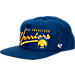 Front view of New Era Golden State Warriors NBA Freehand Snapback Hat in Blue