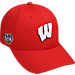 Front view of Top of the World Wisconsin Badgers College Fresh Adjustable Cap in Team Colors