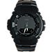 Front view of Casio G-Shock Blackout Resin G100 Watch in Matte Black