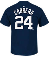Men's Majestic Detroit Tigers MLB Miguel Cabrera Name and Number T-Shirt