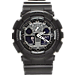 Front view of Casio G-Shock GA100 Series Watch in Black