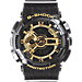 Front view of Casio G-Shock Tough Culture XL Watch in Digi Black/Gold