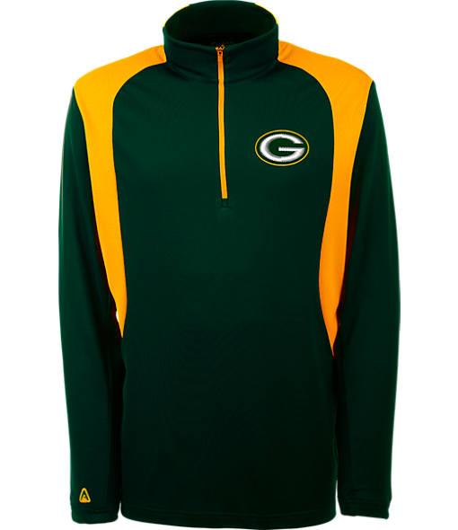 Men's Antigua Green Bay Packers NFL Delta Quarter Zip Shirt