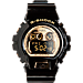 Front view of Casio G-Shock X-Large 6900 Series Digital Watch in Black/Gold
