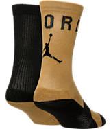 Kids' Jordan Two-Tone 2-Pack Crew Socks