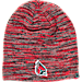 Front view of Top of the World Ball State Cardinals College Glaze Knit Hat in Team Colors