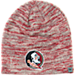 Front view of Top of the World Florida State Seminoles College Glaze Knit Beanie in Team Colors