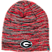 Front view of Top of the World Georgia Bulldogs College Glaze Knit Beanie in Team Colors