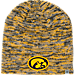 Front view of Top of the World Iowa Hawkeyes College Glaze Knit Hat in Team Colors