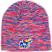 Front view of Top of the World Kansas Jayhawks College Glaze Knit Beanie in Team Colors