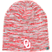 Front view of Top of the World Oklahoma Sooners College Glaze Knit Hat in Team Colors