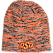 Front view of Top of the World Oklahoma State Cowboys College Glaze Knit Hat in Team Colors