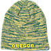 Front view of Top of the World Oregon Ducks College Glaze Knit Hat in Team Colors