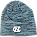 Front view of Top of the World North Carolina Tar Heels College Glaze Knit Beanie in Team Colors