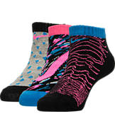 Girls' Nike Graphic 3-Pack No-Show Socks