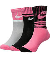 Kids' Nike Gradient Stripe Crew Socks 3-Pack