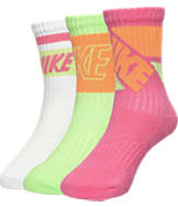 Kids' Nike Fly Rise 3-Pack Crew Socks