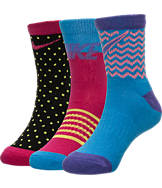 Kids' Nike Pattern 3-Pack Crew Socks