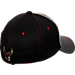 Back view of Zephyr Boston College Eagles Graphite Flex Cap in Team Colors