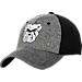 Front view of Zephyr Butler Bulldogs College Graphite Flex Cap in Team Colors