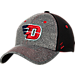 Front view of Zephyr Dayton Flyers College Graphite Flex Cap in Team Colors