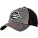 Front view of Zephyr Gonzaga Bulldogs College Graphite Flex Cap in Team Colors