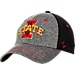 Front view of Zephyr Iowa State Cyclones College Graphite Flex Cap in Team Colors
