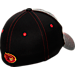 Back view of Zephyr Iowa State Cyclones College Graphite Flex Cap in Team Colors