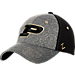 Front view of Zephyr Purdue Boilermakers College Graphite Flex Cap in Team Colors