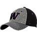 Front view of Zephyr Washington Huskies College Graphite Flex Cap in Team Colors