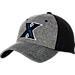 Front view of Zephyr Xavier Musketeers College Graphite Flex Cap in Grey