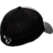 Back view of Zephyr Xavier Musketeers College Graphite Flex Cap in Grey