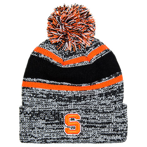 Women's Zephyr Syracuse Orange College Granite Pom Knit Hat