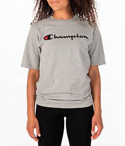 Womens Champion Heritage HBR T-Shirt,Oxford Grey