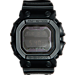 Front view of Casio G-Shock Blackout Digital Resin GX56 Watch in Matte Black