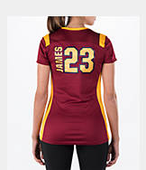 Women's Majestic Cleveland Cavaliers NBA LeBron James Draft Shirt