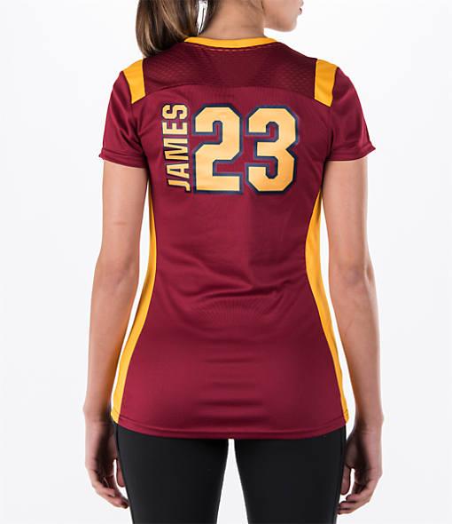 Women's Majestic Cleveland Cavaliers NBA LeBron James Draft Shirt