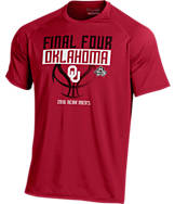 Men's Under Armour Oklahoma Sooners College Final Four 2016 Team Tech Basketball T-Shirt