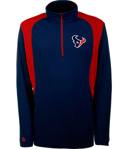 Men's Antigua Houston Texans NFL Delta Quarter Zip Shirt