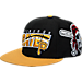 Front view of 47 Brand Pittsburgh Pirates MLB Hazelwood Wool Snapback Hat in Black