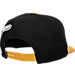Back view of 47 Brand Pittsburgh Pirates MLB Hazelwood Wool Snapback Hat in Black