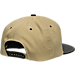 Back view of Zephyr Purdue Boilermakers College Anarchy Snapback Hat in Team Colors