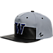 Front view of Zephyr Washington Huskies College Anarchy Snapback Hat in Team Colors